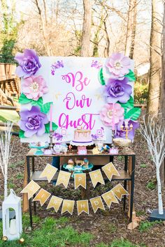 Be Our Guest Be Our Guest Your Presence is Our Request! When the birthday girl requested a Belle party for her 4th Birthday, which coordinated with the live Beauty and The Beast movie release later…