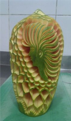 Best of the Maldives: Fruit Art – Paradise Island Maldives Resort, Paradise Island, Fruit Art, Watermelon, Carving, Food, Wood Carvings, Essen, Sculptures