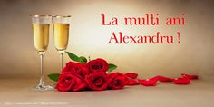 Romantic Background with Roses and Champagne