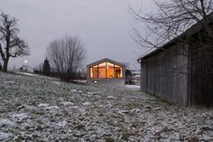 Elegantes Holzhaus im Loftdesign