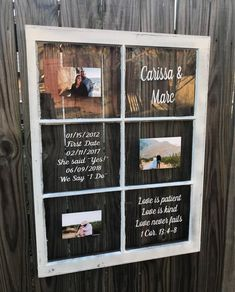 Rustikales Bilderfenster  Hochzeitsfenster  Fenster für die Hochzeit  Bilderrahmenfenster  personalisiertes Fenster  wiedergewonnenes Holzfenster