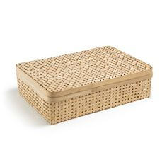 Syramu Bamboo Storage Box AM.Taking inspiration from the style of Central Asia, this beautiful storage box is hand woven in bamboo. It looks lovely and is highly practical too –. Home Furnishing Accessories, Decorative Accessories, Decorative Boxes, Bamboo Box, Bamboo Basket, Storage Boxes, Storage Baskets, Casas Country, Muji