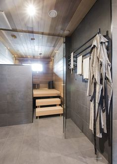 bathroom remodeling ideas is totally important for your home. Whether you pick the bathroom demolition or bathroom remodel wainscotting, you will create the best bathroom ideas remodel for your own life. Laundry Room Bathroom, Beach Bathrooms, Bathroom Toilets, Bathroom Shower Curtains, Modern Bathroom, Basement Sauna, Sauna Room, Home Spa Room, Spa Rooms