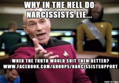 Have or had a Narcissist in your life?  Would you like some support, or to vent? Join us on Facebook: www.facebook.com/groups/narcissistsupport