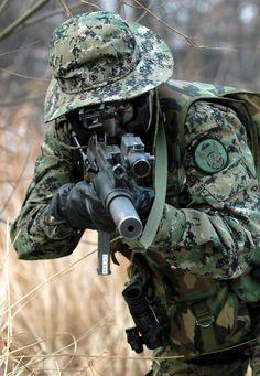 South Korean soldier.