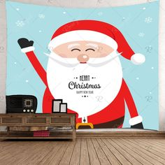 Smile Santa Claus Pattern Waterproof Wall Art Tapestry , #Ad, #Claus, #Pattern, #Smile, #Santa, #Art #affiliate