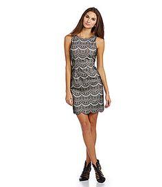 Jessica Simpson Scalloped Lace Sheath Dress #Dillards