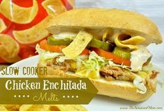 """This sandwich was inspired by the Subway """"Chicken Enchilada Melt"""" and uses a lot of the same flavors to create the DIY version."""