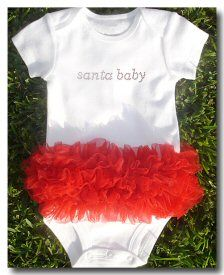 Santa Baby onsies...I bet I can make this!
