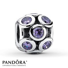 Pandora Charm Purple CZ  Sterling Silver - would love one like this in garnet for my DDs birthstone or sapphire for my DHs birthstone