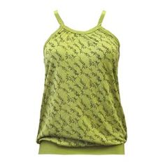 "BAMBOO Vest  by Auspicious  ""BAMBOO"" Women's Loose Vest in Green and Black print"