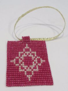 Christmas handmade beaded snowflake ornament