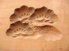 Vintage Japanese Kashigata Sweets Mold Pine
