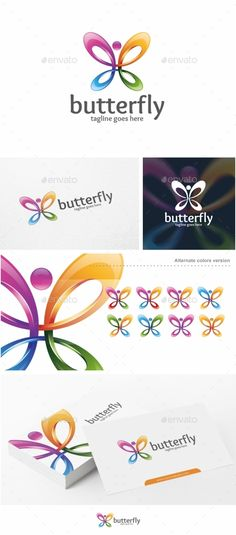 Butterfly - Logo Template #design #logotype Download: http://graphicriver.net/item/butterfly-logo-template/11383955?ref=ksioks
