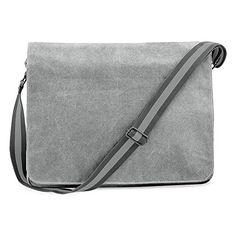 Shirtstown Vintage Canvas Despatch Bag, Schultasche, Umhängetasche grey - http://herrentaschenkaufen.de/shirtstown/grey-shirtstown-vintage-canvas-despatch-bag