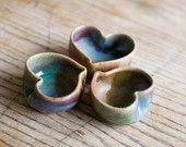 Single tiny Heart bowl ring dish by redhotpottery on Etsy