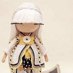 Amigurumo girl doll. Instagram photo by @kukukolki via ink361.com. (Inspiration).