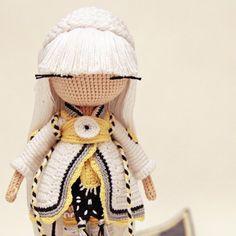 Amigurumo girl doll. Instagram photo by @kukukolki via ink361.com. (Inspiration).
