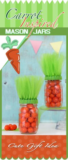 Easter Fun: Make Carrot Inspired Mason Jars #Easter #craft