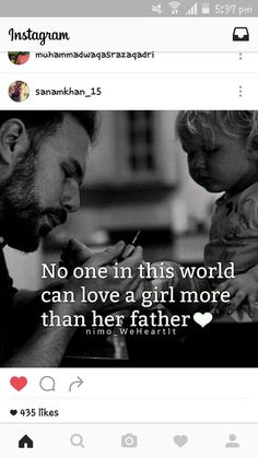 True its really soo cute love u pa Father Daughter Love Quotes, Mom And Dad Quotes, Daddy Quotes, Father Quotes, Fathers Love, Girl Quotes, True Quotes, Queen Quotes, Love U Papa