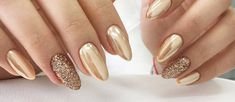 All That Glitters: 27 Gold Nails Designs To Try - My Stylish Zoo Gold Glitter Nail Polish, Black Gel Nails, Gold Nail Art, Rose Gold Nails, Metallic Nails, Red Nails, Hair And Nails, Nail Art Designs 2016, Gold Nail Designs