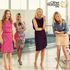 Cameron Diaz, Leslie Mann, Kate Upton, and Nicki Minaj team up in The Other Woman.