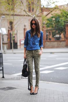 How to Style #Camo Pants with #denim