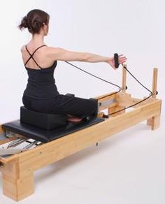 A nice article about the Pilates mat workout versus the Pilates reformer workout (pictured here).