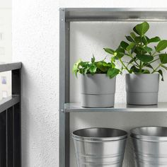 NYPON in/outdoor grey, Plant pot, 15 cm - IKEA