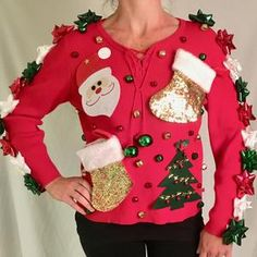 Making Ugly Christmas Sweaters, Ugly Christmas Sweater Women, Christmas Jumpers, Christmas Tree Lots, Christmas Humor, Christmas Wrapping, Christmas Movies, Christmas Eve Service, Handmade Christmas Gifts