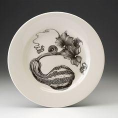 Laura Zindel Design - Dinner Plate: Curshaw Gourd, $50.00 (http://www.laurazindel.com/dinner-plate-curshaw-gourd/)