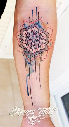geometric tattoos watercolor - Google Search