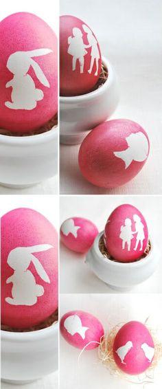 DIY Silhouette Easter Eggs