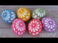 Knitting Patterns Lace DIY Tutorial - How to Crochet an Egg - Lace Covered Eggs - Collab with Lorrie Popow Easter Egg Pattern, Easter Crochet Patterns, Lace Knitting Patterns, Thread Crochet, Crochet Motif, Crochet Flowers, Holiday Crochet, Crochet Home, Crochet Simple