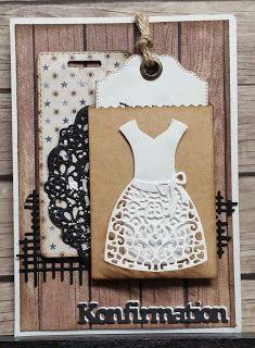 Konfirmations kort. Communion Dresses, Blog, Cards, Inspiration, Scrapbooking, Card Designs, Danish, Dame, Inspired