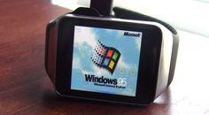 """Novedad: Ya es posible """"utilizar"""" Windows 95 en un smartwatch Samsung Gear Live"""