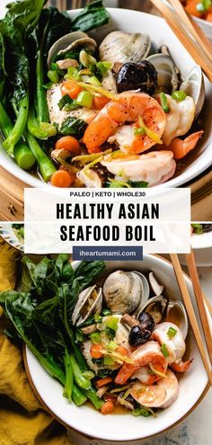 Seafood Dim Sum Recipe is like an Asian-style seafood boil takes 5 minutes to assemble. Incredibly flavorful and keto low carb delicious! #dimsum #seafood #ketorecipes #asianrecipes #steamedrecipes #lowcarbrecipes Seafood Boil, Seafood Recipes, Paleo Recipes, Asian Recipes, Pescatarian Recipes, Chinese Recipes, Recipes Dinner, Chinese Seafood Recipe, Paleo Cookbook