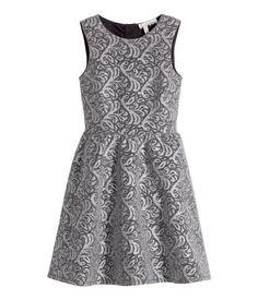 Jacquard-patterned Dress Silver #spon