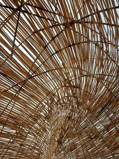A group of architects calling themselves WEAK! created this bamboo shelter.