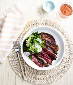 The Resident's charcoal-grilled skirt steak with parsley salad :: Gourmet Traveller