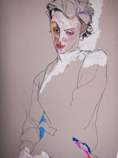 contemporary art fashion illustration Howard Tangye drawings and paintings tu recepcja Figure Painting, Figure Drawing, Painting & Drawing, Life Drawing, Illustration Sketches, Illustrations, Kunst Online, Klimt, Oeuvre D'art