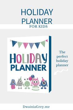 Keep your family organized by planning your family's holiday activities. This colorful planner for kids and the whole family to use to plan your holiday season. Buy Now! #holidayplanner Summer Planner, Kids Planner, Holiday Planner, Holiday Activities, Summer Activities, Perfect Planner, Family Organizer, Journal Pages, Printable Planner
