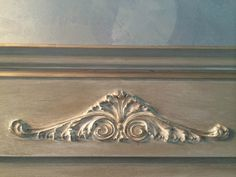 Love Coco Chalk Paint® with a wash of Old White, used Efex™ pediment to the mirror and added some gilding wax to highlight.