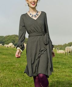 Look what I found on #zulily! Gray Stone Haven Wrap Dress #zulilyfinds