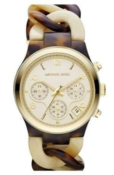 Michael Kors Chain Bracelet Chronograph Watch available at #Nordstrom by anne