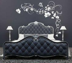 Flower Vine Wall Decal Living Room Bedroom Salon Shop Wall Sticker. multiple color options