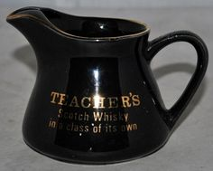 Small Teacher's Scotch Whisky Water Jug in Excellent Condition