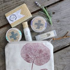 Travel Spa Gift Set www.etsy.com/... We are EXCITED to be collaborating with Violeta and Plamena of www.etsy.com/... who co-created the rustic chic cosmetic bag for this lovable gift set. Plamena is responsible for the hand printing & Violeta is responsible for the sewing. Go Team! #littleflowersoapco