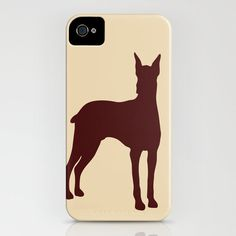 Doberman Dog on iPhone Case - (4S, 4, 5, 5S, 5C) brown and beige color silhouette robust personalized pet lover iPhone 5 iPhone 5C $39 Ialbert on Etsy