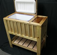 Deck cooler on pinterest wooden cooler coolers and for Wooden beer cooler plans